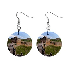 Great Wall Of China 3 Mini Button Earrings by trendistuff