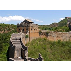 Great Wall Of China 3 Birthday Cake 3d Greeting Card (7x5)  by trendistuff