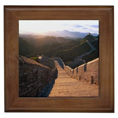 Great Wall Of China 2 Framed Tiles by trendistuff