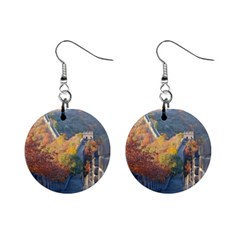 Great Wall Of China 1 Mini Button Earrings by trendistuff