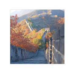 Great Wall Of China 1 Small Satin Scarf (square)  by trendistuff