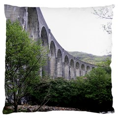 Glenfinnan Viaduct 2 Large Flano Cushion Cases (one Side)  by trendistuff