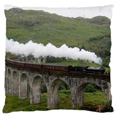 Glenfinnan Viaduct 1 Large Cushion Cases (one Side)  by trendistuff