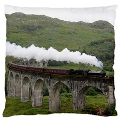 Glenfinnan Viaduct 1 Large Flano Cushion Cases (one Side)  by trendistuff