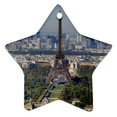 Eiffel Tower 2 Ornament (star)  by trendistuff