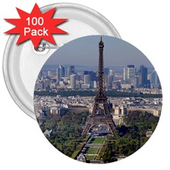Eiffel Tower 2 3  Buttons (100 Pack)  by trendistuff