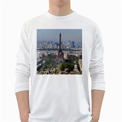 Eiffel Tower 2 White Long Sleeve T Shirts by trendistuff