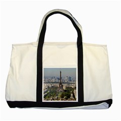 Eiffel Tower 2 Two Tone Tote Bag  by trendistuff