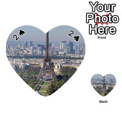 Eiffel Tower 2 Playing Cards 54 (heart)  by trendistuff