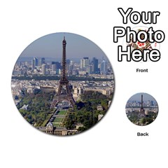 Eiffel Tower 2 Multi Purpose Cards (round)  by trendistuff
