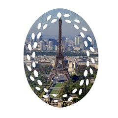 Eiffel Tower 2 Oval Filigree Ornament (2 Side)  by trendistuff