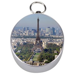 Eiffel Tower 2 Silver Compasses by trendistuff