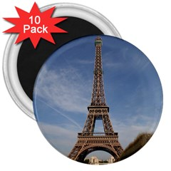 Eiffel Tower 3  Magnets (10 Pack)  by trendistuff