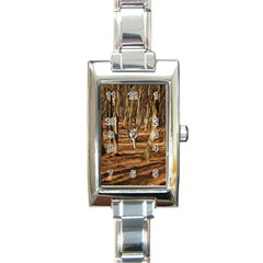 Wood Shadows Rectangle Italian Charm Watches by trendistuff