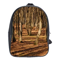 Wood Shadows School Bags(large)  by trendistuff