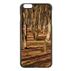 Wood Shadows Apple Iphone 6 Plus/6s Plus Black Enamel Case by trendistuff