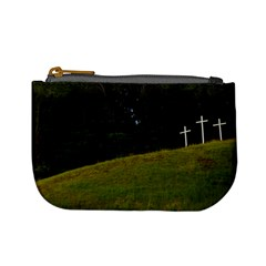 Three Crosses On A Hill Mini Coin Purses by trendistuff