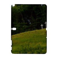 Three Crosses On A Hill Samsung Galaxy Note 10 1 (p600) Hardshell Case by trendistuff