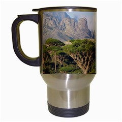 Socotra, Yemen Travel Mugs (white) by trendistuff