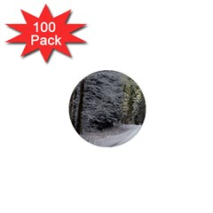 Snow On Road 1  Mini Magnets (100 Pack)  by trendistuff
