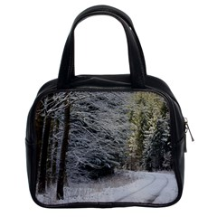 Snow On Road Classic Handbags (2 Sides) by trendistuff