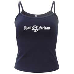 Hail Seitan Dark Spaghetti Tanks by waywardmuse