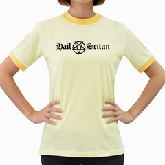 Hail Seitan Women s Fitted Ringer T Shirts by waywardmuse