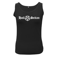 Hail Seitan Women s Black Tank Tops by waywardmuse