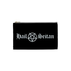 Hail Seitan Cosmetic Bag (small)  by waywardmuse