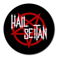 Hail Seitan Round Mousepads by waywardmuse