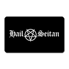 Hail Seitan Magnet (rectangular) by waywardmuse