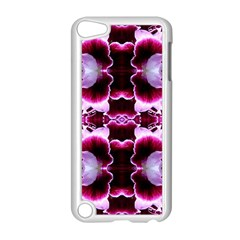 White Burgundy Flower Abstract Apple Ipod Touch 5 Case (white) by Costasonlineshop