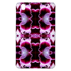 White Burgundy Flower Abstract Samsung Galaxy Tab Pro 8 4 Hardshell Case by Costasonlineshop