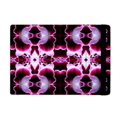 White Burgundy Flower Abstract Ipad Mini 2 Flip Cases by Costasonlineshop
