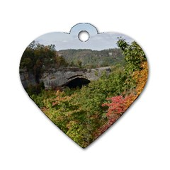 Natural Arch Dog Tag Heart (one Side) by trendistuff