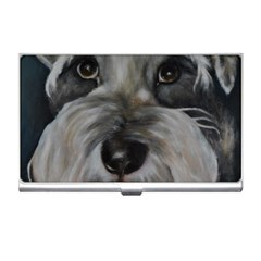The Schnauzer Business Card Holders by timelessartoncanvas