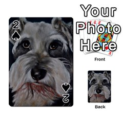 The Schnauzer Playing Cards 54 Designs  by timelessartoncanvas