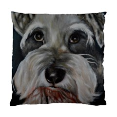 The Schnauzer Standard Cushion Case (one Side)  by timelessartoncanvas