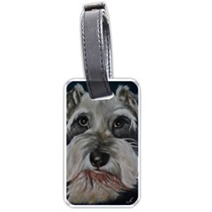 The Schnauzer Luggage Tags (one Side)  by timelessartoncanvas