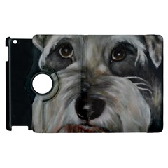 The Schnauzer Apple Ipad 3/4 Flip 360 Case by timelessartoncanvas