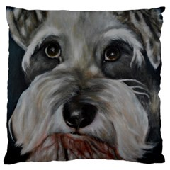 The Schnauzer Standard Flano Cushion Cases (two Sides)  by timelessartoncanvas