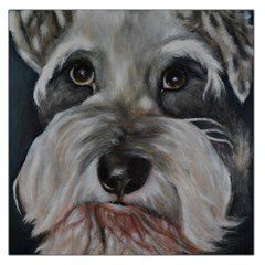 The Schnauzer Large Satin Scarf (square) by timelessartoncanvas