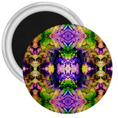 Green,purple Yellow ,goa Pattern 3  Magnets by Costasonlineshop