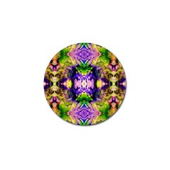 Green,purple Yellow ,goa Pattern Golf Ball Marker (4 Pack) by Costasonlineshop
