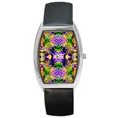 Green,purple Yellow ,goa Pattern Barrel Metal Watches by Costasonlineshop