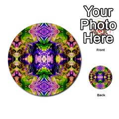 Green,purple Yellow ,goa Pattern Multi Purpose Cards (round)  by Costasonlineshop