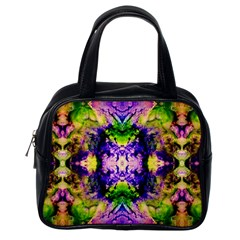 Green,purple Yellow ,goa Pattern Classic Handbags (one Side) by Costasonlineshop