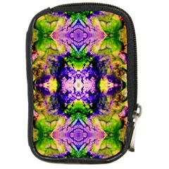 Green,purple Yellow ,goa Pattern Compact Camera Cases by Costasonlineshop