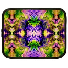 Green,purple Yellow ,goa Pattern Netbook Case (xl)  by Costasonlineshop