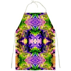 Green,purple Yellow ,goa Pattern Full Print Aprons by Costasonlineshop